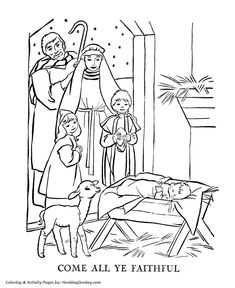 bible coloring pages jesus birth   Coloring (Angel Telling Shepherds about Jesus' Birth ...