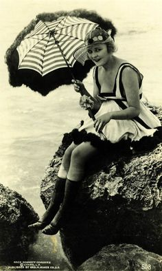 No wonder women didn't go swimming very often. I would drown from the weight of that 1930's suit.