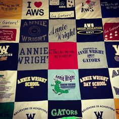 Turn your old t shirts into  a t shirt quilt in fabric accessories  with T shirt Repurposed quilt