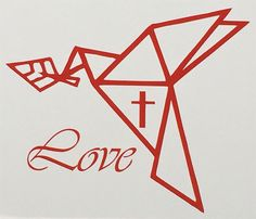 Excited to share this item from my shop: Heat Transfer Vinyl Decal Origami Dove Origami Cranes Christian Love Origami Dove, Diy Origami, Origami Paper, Custom Decals, Vinyl Decals, Crane Drawing, Origami Cranes, Christian Love, Personalized Stickers