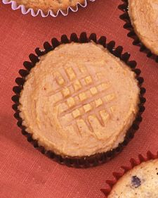 Peanut Butter Cookie Cupcakes - neato idea with the design on top. From Martha Stewart