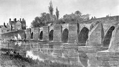 Old Trent Bridge West Side 1870