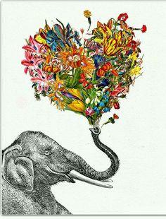 #choiceisyours #inspiration #hisstyle Elephant flower art