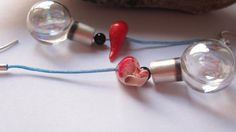 Lightbulbs sterling silver earrings with glass by BomboniDi