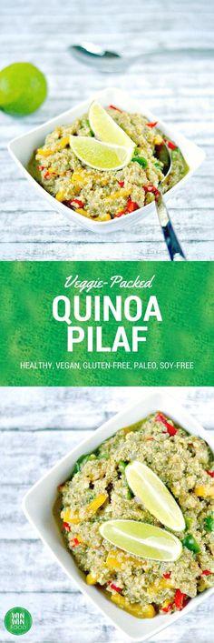 Quinoa Pilaf  WIN-WINFOOD.com #healthy #vegan #glutenfree #paleo
