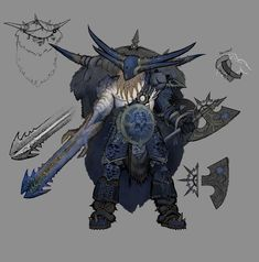 Warhammer Online: Age of Reckoning Concept ArtQuick-n-Dirty color. Fantasy Armor, Medieval Fantasy, Dark Fantasy, Character Concept, Character Art, Concept Art, Character Design, Dnd Characters, Fantasy Characters
