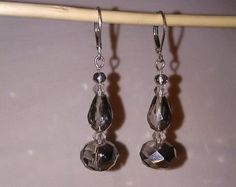 2 Sided Sparkling dangle earrings di EarringsByTinaMarie su Etsy