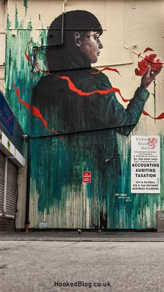 Latest Mural on E17's Wood Street featuring the work of Australian street artists Cam Scale And Loretta Lizzio