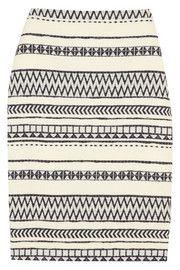 J.CrewCollection faux raffia pencil skirt
