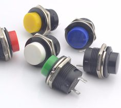 10PCS momentary push button switch  OFF-(ON) 16mm