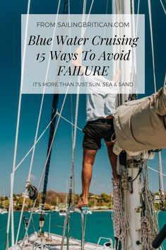What factors contribute to the success or failure of becoming a bluewater cruiser? Read these 15 points to avoid failure when becoming a blue water cruiser. Sailing Basics, Sailing Lessons, Liveaboard Sailboat, Liveaboard Boats, Sailboat Living, Living On A Boat, Ocean Sailing, Sailing Ships, Sailboat Interior
