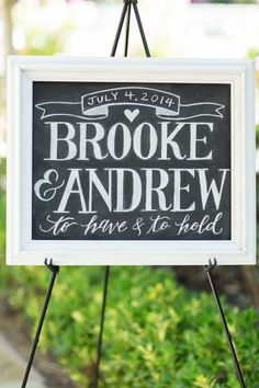 Calligraphy and bold lettering: http://www.stylemepretty.com/little-black-book-blog/2014/09/19/shabby-chic-calamigos-ranch-wedding/ | Photography: Koman - http://komanphotography.com/