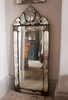 love old mirrors. The one in my bedroom has some beautiful damage to itI love old mirrors. The one in my bedroom has some beautiful damage to it Art Deco Furniture, Decor, Beautiful Mirrors, Vintage House, Deco Furniture, Art Deco Mirror, Vintage Mirrors, Mirror, Home Decor
