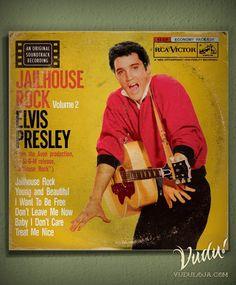 Quadro Capa de LP - Elvis - Jailhouse Rock