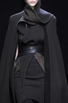 Draped Jacket - layered black fashion details // Haider Ackermann