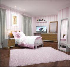 Conjunto para quarto - solteiro / Linha Lavander - Branco/neve com carvalho escovado - Solteiro - Dormitórios