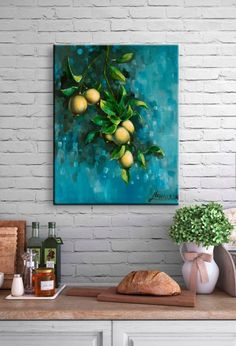 """Bunch of Lemons""kitchen/dinning room art 