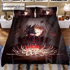 Tokyo Ghoul Blanket, Bedding Set & Sheets  #tokyo #ghoul #kaneki #ken #bedding #set #bed #sheets #covers #pillows #quilt #comforter #home #decor #custom #sets  https://custombeddingclub.com/collections/anime-bed-set-anime-bedding/products/tokyo-ghoul-blanket-bedding-set-sheets