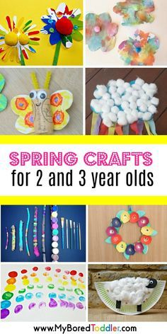 Spring crafts for 2 year olds and 3 year olds. Great spring crafts for toddlers and preschoolers