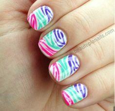 Fun zebra nail designs