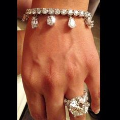 Floyd Mayweather recently showed off the major carats for his fiance Shantel Jackson by showing off two diamond rings and matching bracelets to match that he . Shantel Jackson, Celebrity Engagement Rings, Engagement Ring Photos, Diamond Bracelets, Diamond Jewelry, 25 Carat Diamond Ring, Diamond Rings, Bling Bling, Estilo Fashion