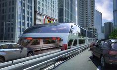 Land Airbus: El gigantesco transporte público chino del futuro