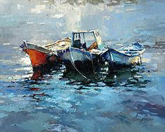 Buy now — sale art gallery in the gallery Icelandic Artists, Old Boats, Flower Canvas, Artist Painting, Art For Sale, Buy Art, Street Art, Art Gallery, Fine Art