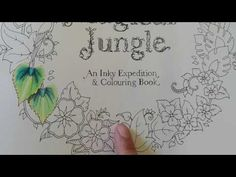 How I Color Flowers In The Magical Jungle Coloring Book