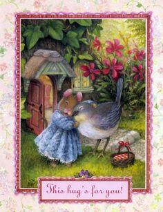 Illustration/Painting by Susan Wheeler Susan Wheeler, Beatrix Potter, Art Carte, Bunny Art, Cute Mouse, Children's Book Illustration, Whimsical Art, Book Art, Clip Art