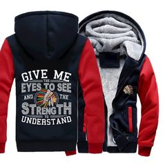 NEW ARRIVAL!  Native American J...  order here:http://familyloves.com/products/native-american-jacket-give-me-the-eyes-to-see-and-the-strength-to-understand?utm_campaign=social_autopilot&utm_source=pin&utm_medium=pin #dadgift #momgift #nativeamerican #dadquotes #fatherday #motherday