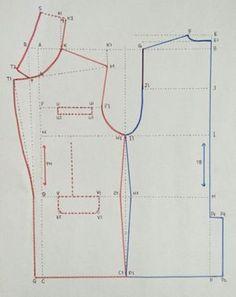 Best 12 Shirley Arabe's 839 media details – SkillOfKing. Easy Sewing Patterns, Coat Patterns, Clothing Patterns, Blazer Pattern, Jacket Pattern, Collar Pattern, Sewing Collars, Sewing Lessons, Pattern Drafting
