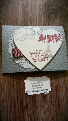 Follow My Heart..brand new set from Stampin' Up! Love it!