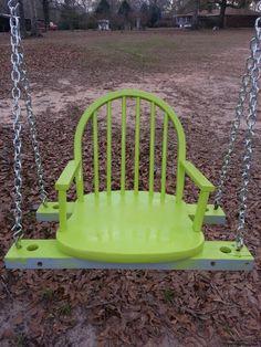 Repurposed chair swing #ChairRepurposed