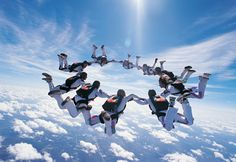 The science of skydiving from MIT Drag:https://www.youtube.com/watch?v=qEWCRKxhEZo&index=13&list=PLzMhsCgGKd1hoofiKuifwy6qRXZs7NG6a