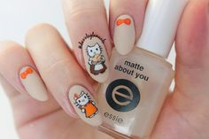 Dazzle Glam Nails | Nail Art Blog: Thanksgiving Hello Kitty Nails