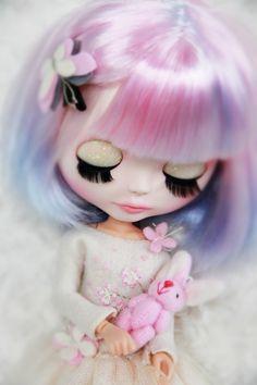 RESERVED for Sarah 4th Custom Blythe doll Opal by BigEyesBlythe