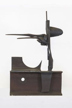 Marcus White, Untitled, Welded Steel, 12 x 2.875 x 17.625 inches.
