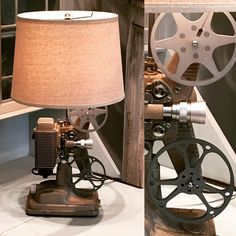 """82 Likes, 7 Comments - Green & Envy (@green_and_envy_raleigh) on Instagram: """"NEW! Projector lamp. Wired through the original switch. Includes 8mm reels. Nearly identical lamp…"""""""