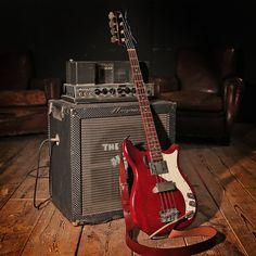 '66 Epiphone Newport Bass, 60s Ampeg B-15, Bear 'Classic' Strap. Combo of dreams!