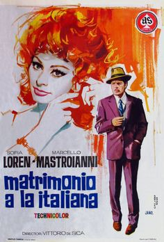 just watched this on netflix. so epic, so beautiful. sophia loren and marcelo mastroianni, gods.