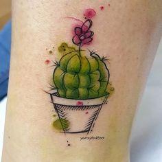 Cactus tattoo Yeray Ribagorda (@yeraytattoo)
