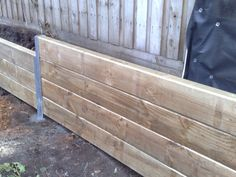 Timber retaining wall, Corey's plan