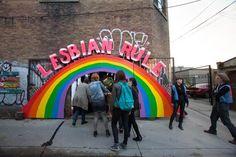 """Entrance to """"Killjoy's Kastle,"""" Toronto - COURTESY OF ALLYSON MITCHELL"""