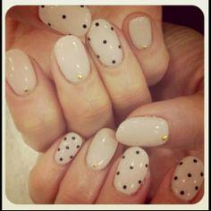 Beautiful dot nails