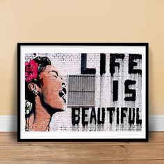 Hey, I found this really awesome Etsy listing at https://www.etsy.com/listing/194799045/life-is-beautiful-graffiti-street-art