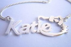 Hello Kitty personalised name necklace, $0.00