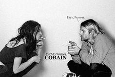 Kurt and Frances Cobain