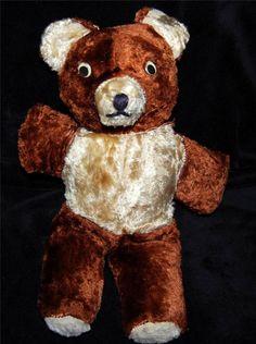 Antique Vintage Teddy Bear Stuffed Animal Plush Toy Straw & Plush Cubbie Gund?