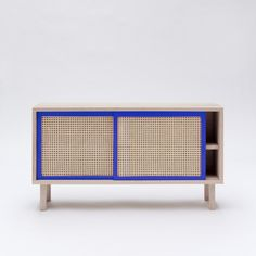 KYOTO sideboard in solid beech with sliding cane doors - COLONEL