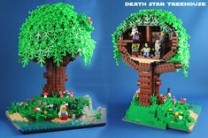 Death Star Treehouse front and back   by Hen Peril